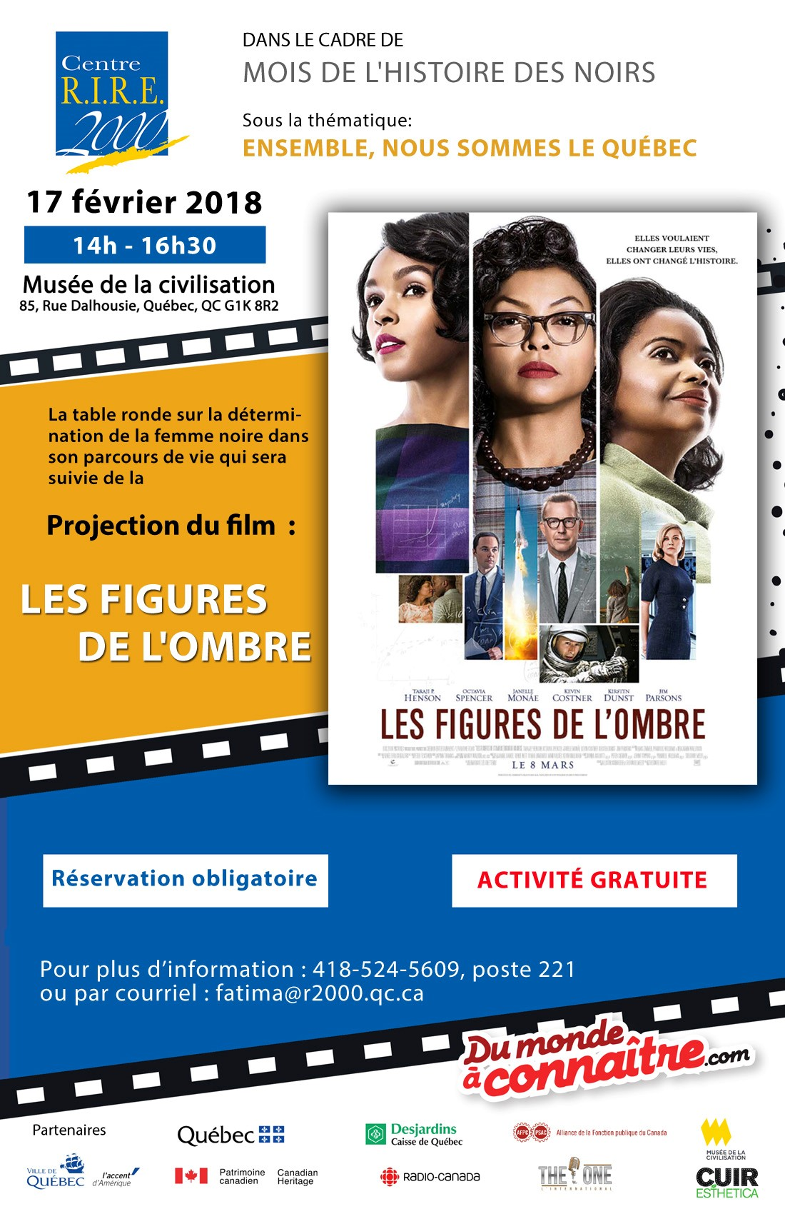 Projection du film : LES FIGURES DE L'OMBRE