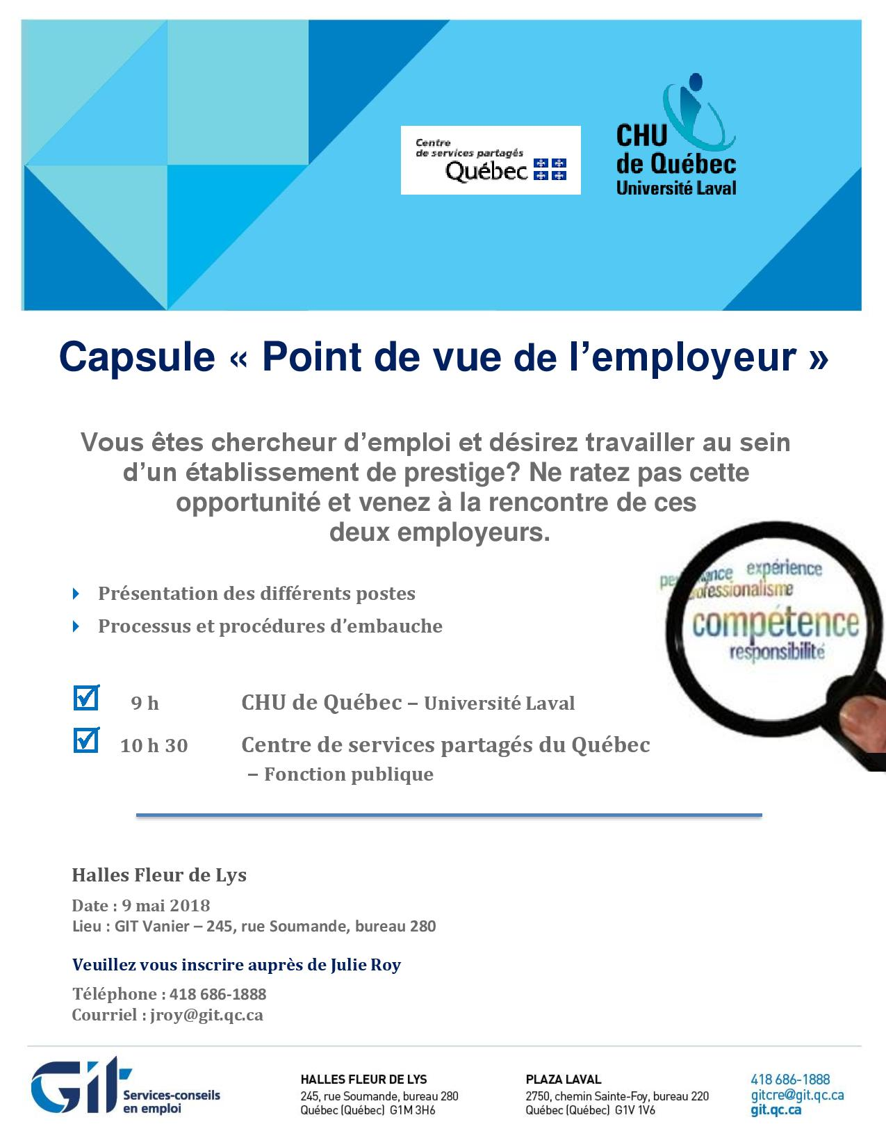 Capsule « Point de vue de l'employeur »